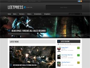 دانلود قالب leetpress برای وردپرس مخصوص سایتهای بازی