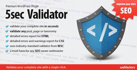افزونه بهینه سازی وردپرس ۵sec Validator